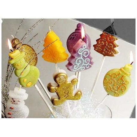 Moule pour Bougies à Piquer motif Noël