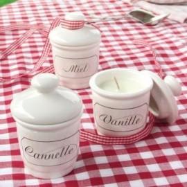 Pot en Porcelaine pour Bougie Coulée
