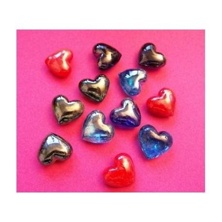 Inclusions Décoratives Coeurs pour Bougie Gel